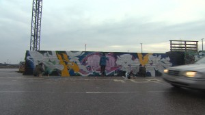Spreijaajat Suvilahden graffitiseinällä